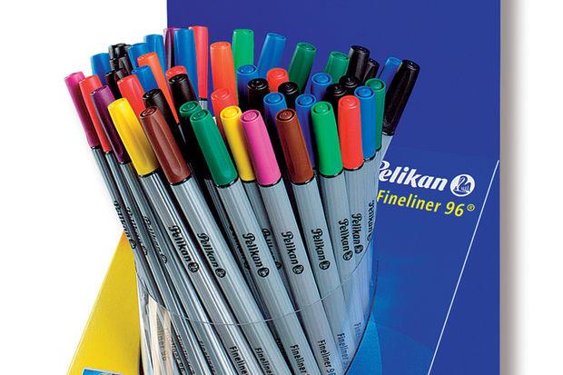 10 Farklı Renk Seçeneği Pelikan Fineliner 96'da