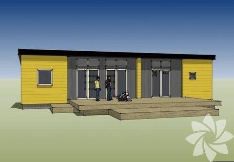 İlk kez Portland Ev ve Bahçe fuarında sergilenen evlerde bir yatak odası, mutfak, banyo ve oturma odası bulunuyor