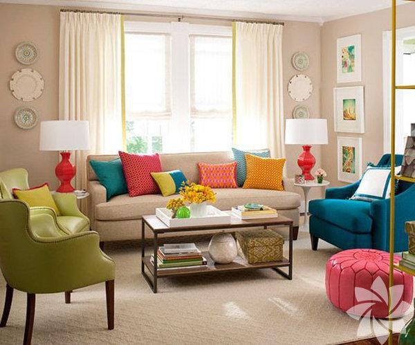 Evinizin belki de en sık kullandığınız alanı oturma odaları, salonlar...