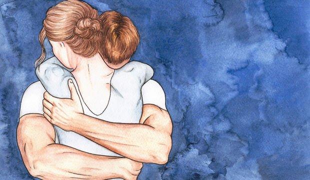Bir erkek kadına sarıldığında ne olur?